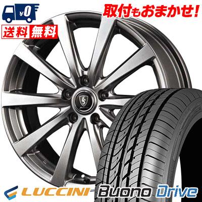 195/65R15 91H LUCCINI ルッチーニ Buono Drive ヴォーノ ドライヴ Euro Speed G10 ユーロスピード G10 サマータイヤホイール4本セット