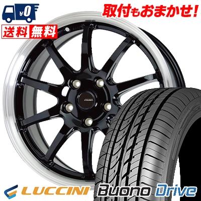 215/65R15 100H XL LUCCINI ルッチーニ Buono Drive ヴォーノ ドライヴ G.speed P-04 ジースピード P-04 サマータイヤホイール4本セット