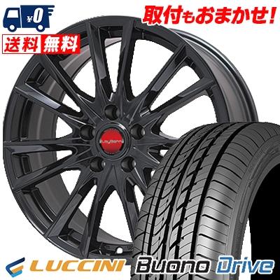 195/65R15 LUCCINI ルッチーニ Buono Drive ヴォーノ ドライヴ LeyBahn GBX レイバーン GBX サマータイヤホイール4本セット