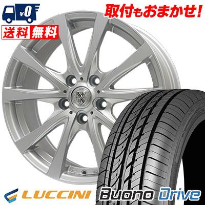 195/60R15 88V LUCCINI ルッチーニ Buono Drive ヴォーノ ドライヴ TRG-SILBAHN TRG シルバーン サマータイヤホイール4本セット