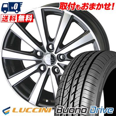 205/55R16 91V LUCCINI ルッチーニ Buono Drive ヴォーノ ドライヴ SMACK VIR スマック VI-R サマータイヤホイール4本セット