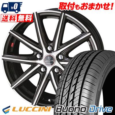 205/55R16 91V LUCCINI ルッチーニ Buono Drive ヴォーノ ドライヴ SMACK PRIME SERIES VANISH スマック プライムシリーズ ヴァニッシュ サマータイヤホイール4本セット
