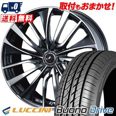 205/65R16 95H LUCCINI ルッチーニ Buono Drive ヴォーノ ドライヴ weds LEONIS VT ウエッズ レオニス VT サマータイヤホイール4本セット
