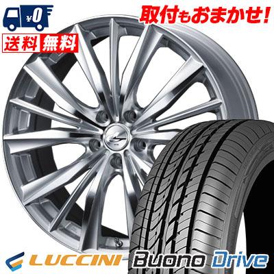 205/65R16 95H LUCCINI ルッチーニ Buono Drive ヴォーノ ドライヴ weds LEONIS VX ウエッズ レオニス VX サマータイヤホイール4本セット
