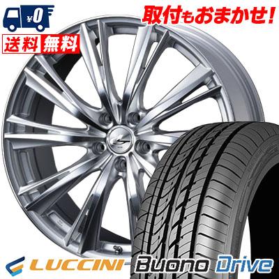 205/65R16 95H LUCCINI ルッチーニ Buono Drive ヴォーノ ドライヴ weds LEONIS WX ウエッズ レオニス WX サマータイヤホイール4本セット