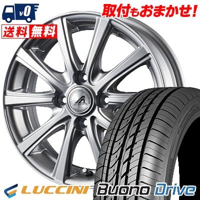 185/55R15 82V LUCCINI ルッチーニ Buono Drive ヴォーノ ドライヴ AZ sports YL-10 AZスポーツ YL-10 サマータイヤホイール4本セット