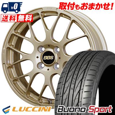 16インチ LUCCINI ルッチーニ Buono Sport ヴォーノ スポーツ 205 45 商品 ランキングTOP10 BBS サマータイヤホイール4本セット 205-45-16 サマーホイールセット 45R16 16 RP 取付対象