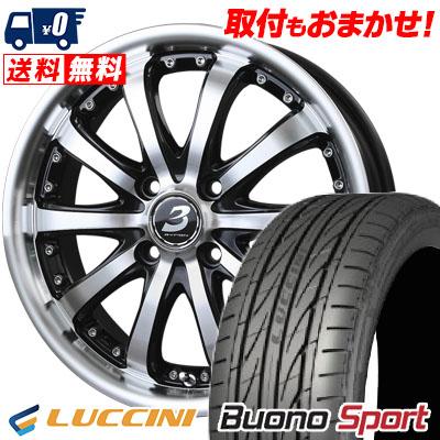 205/40R17 84W XL LUCCINI ルッチーニ Buono Sport ヴォーノ スポーツ BADX LOXARNY EX BYRON STINGER バドックス ロクサーニ EX バイロンスティンガー サマータイヤホイール4本セット