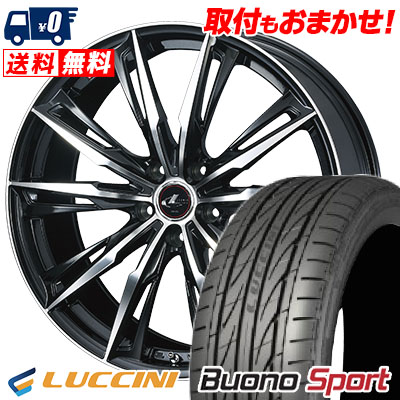 245/35R20 95Y XL LUCCINI ルッチーニ Buono Sport ヴォーノ スポーツ WEDS LEONIS GX ウェッズ レオニス GX サマータイヤホイール4本セット