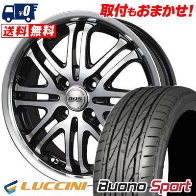 195/45R16 84V XL LUCCINI ルッチーニ Buono Sport ヴォーノ スポーツ BADX D.O.S. DEEP HARDES バドックス D.O.S ディープハーデス サマータイヤホイール4本セット