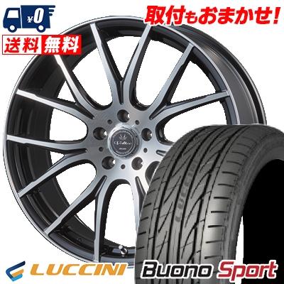 215/40R18 89W XL LUCCINI ルッチーニ Buono Sport ヴォーノ スポーツ VOLTEC HYPER MS-7 ボルテック ハイパー MS-7 サマータイヤホイール4本セット