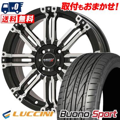 165/55R15 75V LUCCINI ルッチーニ Buono Sport ヴォーノ スポーツ B-MUD X Bマッド エックス サマータイヤホイール4本セット
