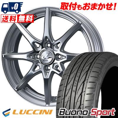 205/40R17 84W XL LUCCINI ルッチーニ Buono Sport ヴォーノ スポーツ weds LEONIS SV ウェッズ レオニス SV サマータイヤホイール4本セット