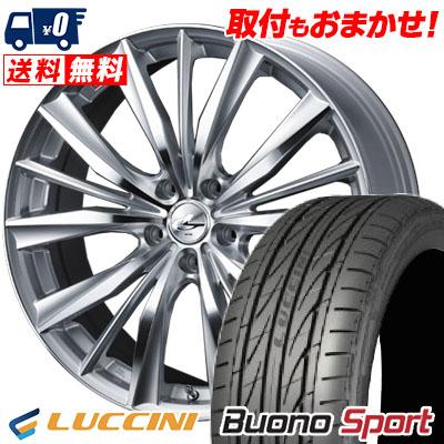 215/55R16 97V XL LUCCINI ルッチーニ Buono Sport ヴォーノ スポーツ weds LEONIS VX ウエッズ レオニス VX サマータイヤホイール4本セット
