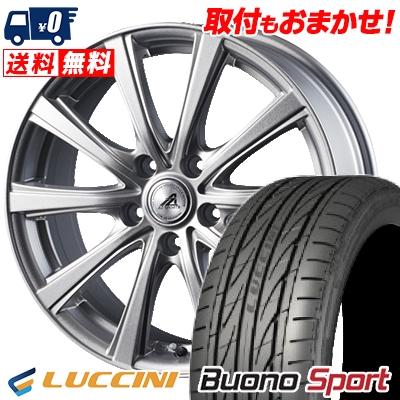 215/55R16 97V XL LUCCINI ルッチーニ Buono Sport ヴォーノ スポーツ AZ sports YL-10 AZスポーツ YL-10 サマータイヤホイール4本セット