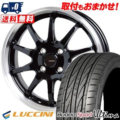 165/40R16 73V XL LUCCINI ルッチーニ Buono Ultima ヴォーノ ウルティマ G.speed P-04 ジースピード P-04 サマータイヤホイール4本セット