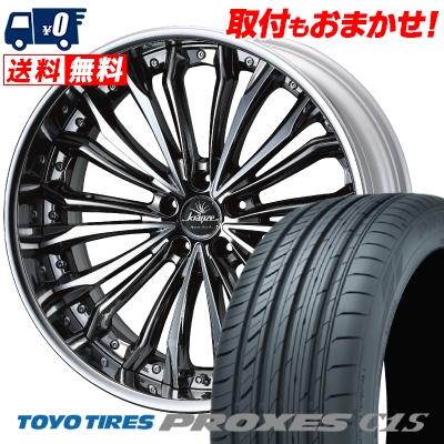 245/45R19 102W XL TOYO TIRES トーヨー タイヤ PROXES C1S プロクセスC1S weds Kranze Felsen ウェッズ クレンツェ フェルゼン サマータイヤホイール4本セット