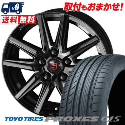 215/55R17 98W TOYO TIRES トーヨー タイヤ PROXES C1S プロクセス C1S SEIN SS BLACK EDITION ザイン エスエス ブラックエディション サマータイヤホイール4本セット