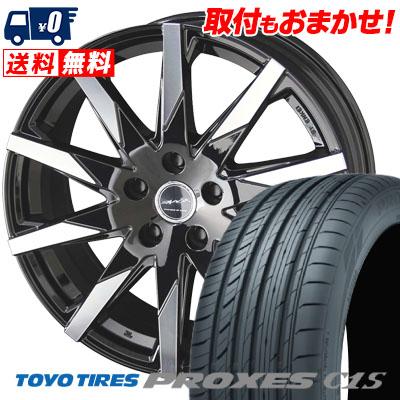 225/55R17 101W TOYO TIRES トーヨー タイヤ PROXES C1S プロクセス C1S SMACK SFIDA スマック スフィーダ サマータイヤホイール4本セット