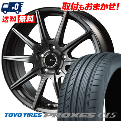 215/45R18 93W TOYO TIRES トーヨー タイヤ PROXES C1S プロクセス C1S V-EMOTION GS10 Vエモーション GS10 サマータイヤホイール4本セット