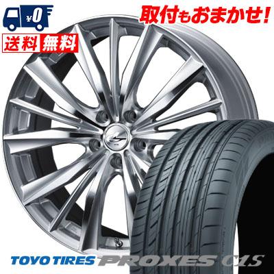 215/65R15 96V TOYO TIRES トーヨー タイヤ PROXES C1S プロクセス C1S weds LEONIS VX ウエッズ レオニス VX サマータイヤホイール4本セット