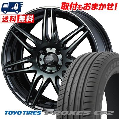 185/60R15 84H TOYO TIRES トーヨー タイヤ PROXES CF2 プロクセス CF2 wedsSport SA-77R ウェッズスポーツ SA-77R サマータイヤホイール4本セット