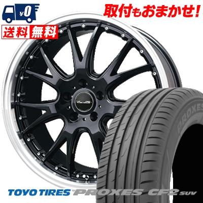 235/55R18 100V TOYO TIRES トーヨー タイヤ PROXES CF2 SUV プロクセス CF2 SUV Precious AST M2 プレシャス アスト M2 サマータイヤホイール4本セット
