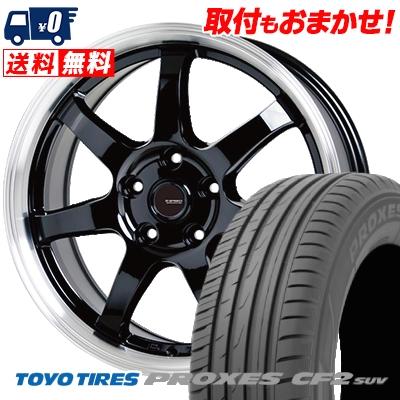 225/60R17 99H TOYO TIRES トーヨー タイヤ PROXES CF2 SUV プロクセス CF2 SUV G.speed P-03 ジースピード P-03 サマータイヤホイール4本セット