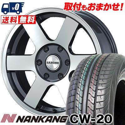 215/60R17C 109/107N NANKANG ナンカン CW-20 CW-20 FABULOUS BARONE MC-6 ファブレスヴァローネ MC6 サマータイヤホイール4本セット for 200系ハイエース