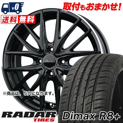 215/45R18 93Y XL RADAR レーダー DimaxR8+ ディーマックス アールエイト プラス Precious AST M1 プレシャス アスト M1 サマータイヤホイール4本セット