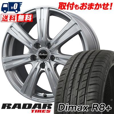レーダー XL Dimax アールエイト RADAR ディーマックス EuroSpeed プラス C-07 C-07 R8+ 87Y ユーロスピード サマータイヤホイール4本セット 225/35R18