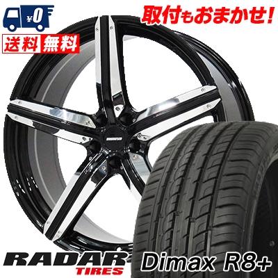 255/45R20 105Y XL RADAR レーダー Dimax R8+ ディーマックス アールエイト プラス ESTATUS Style-CTR エステイタス スタイルCTR サマータイヤホイール4本セット