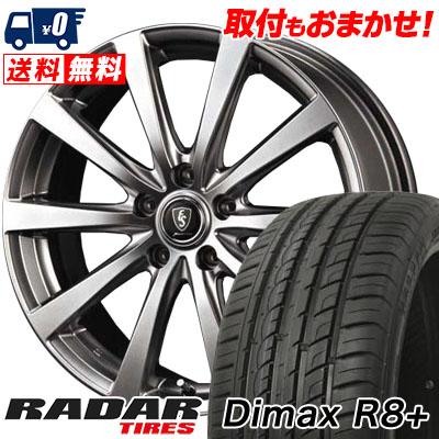 225/35R18 87Y XL RADAR レーダー Dimax R8+ ディーマックス アールエイト プラス Euro Speed G10 ユーロスピード G10 サマータイヤホイール4本セット