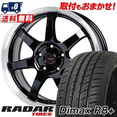 225/45R18 95Y XL RADAR レーダー Dimax R8+ ディーマックス アールエイト プラス G.speed P-03 ジースピード P-03 サマータイヤホイール4本セット