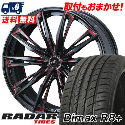 255/45R20 105Y XL RADAR レーダー Dimax R8+ ディーマックス アールエイト プラス WEDS LEONIS GX ウェッズ レオニス GX サマータイヤホイール4本セット