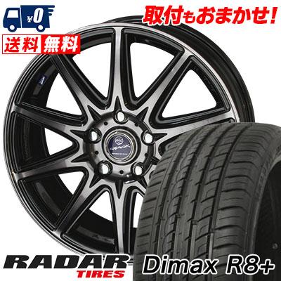 225/35R18 87Y XL RADAR レーダー Dimax R8+ ディーマックス アールエイト プラス SMACK LAVINE スマック ラヴィーネ サマータイヤホイール4本セット