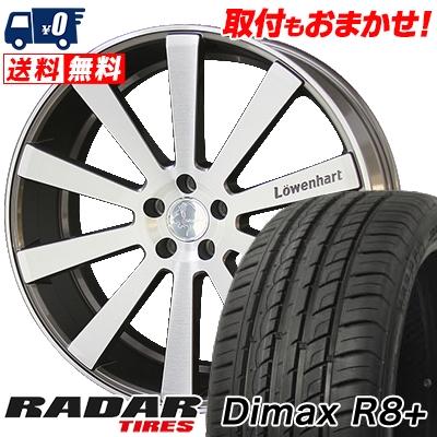 255/45R20 105Y XL RADAR レーダー Dimax R8+ ディーマックス アールエイト プラス Lowenhart LW10 レーベンハート LW10 サマータイヤホイール4本セット