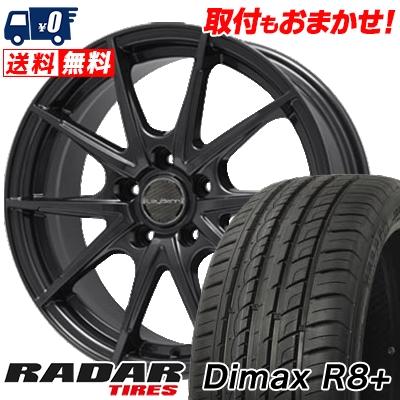 215/45R18 93Y XL RADAR レーダー DimaxR8+ ディーマックス アールエイト プラス LeyBahn WGS レイバーン WGS サマータイヤホイール4本セット