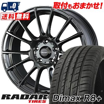 225/35R18 87Y XL RADAR レーダー Dimax R8+ ディーマックス アールエイト プラス WedsSport SA-72R ウェッズスポーツ SA-72R サマータイヤホイール4本セット