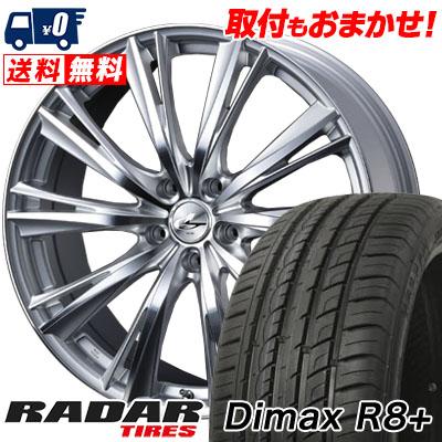 215/45R18 93Y XL RADAR レーダー DimaxR8+ ディーマックス アールエイト プラス weds LEONIS WX ウエッズ レオニス WX サマータイヤホイール4本セット