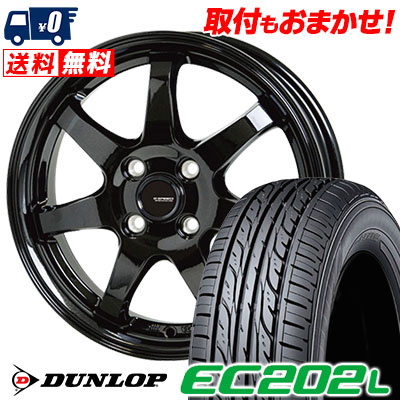 155/65R13 73S DUNLOP ダンロップ EC202L EC202L G.speed G-03 Gスピード G-03 サマータイヤホイール4本セット
