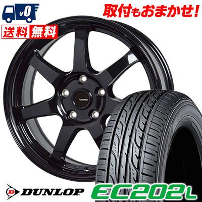 215/60R16 95H DUNLOP ダンロップ EC202L EC202L G.speed G-03 Gスピード G-03 サマータイヤホイール4本セット