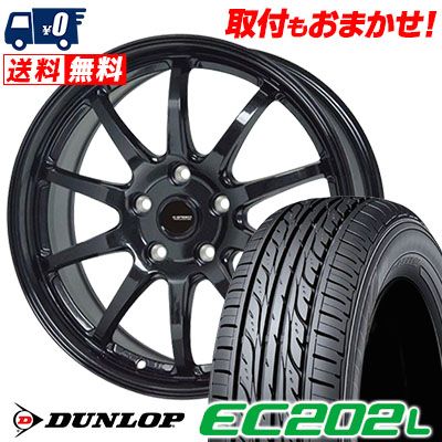 205/60R16 92H DUNLOP ダンロップ EC202L EC202L G.speed G-04 Gスピード G-04 サマータイヤホイール4本セット