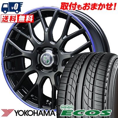 205/40R17 80W YOKOHAMA ヨコハマ DNA ECOS ES300 DNA エコス ES300 Bahnsport Type902 バーンシュポルト タイプ902 サマータイヤホイール4本セット