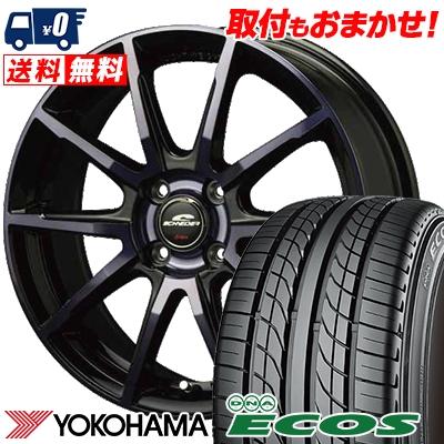 195/50R15 82V YOKOHAMA ヨコハマ DNA ECOS ES300 DNA エコス ES300 SCHNEIDER DR-01 シュナイダー DR-01 サマータイヤホイール4本セット