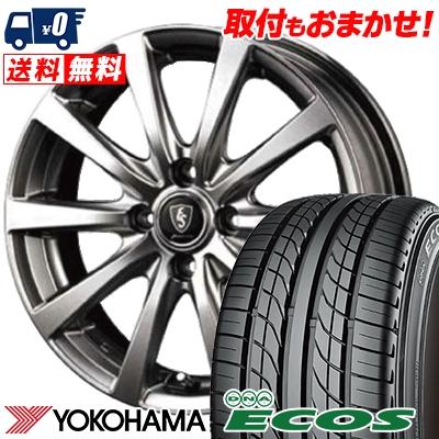 155/70R12 73S YOKOHAMA ヨコハマ DNA ECOS ES300 DNA エコス ES300 Euro Speed G10 ユーロスピード G10 サマータイヤホイール4本セット