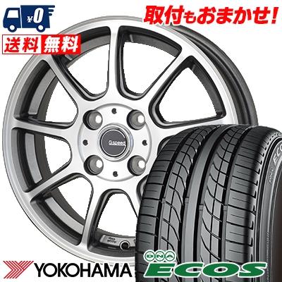 205/55R15 87V YOKOHAMA ヨコハマ DNA ECOS ES300 DNA エコス ES300 G.Speed P-01 Gスピード P-01 サマータイヤホイール4本セット