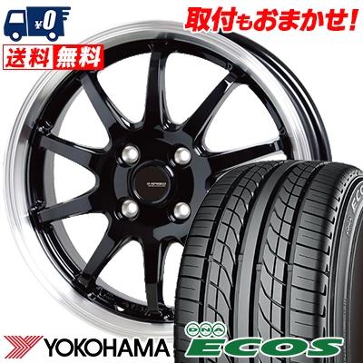 205/55R15 87V YOKOHAMA ヨコハマ DNA ECOS ES300 DNA エコス ES300 G.speed P-04 ジースピード P-04 サマータイヤホイール4本セット