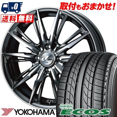 155/55R14 69V YOKOHAMA ヨコハマ DNA ECOS ES300 DNA エコス ES300 WEDS LEONIS GX ウェッズ レオニス GX サマータイヤホイール4本セット
