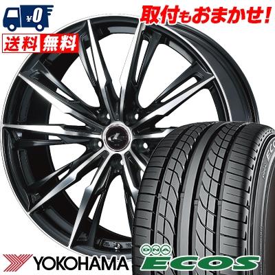 215/60R15 94H YOKOHAMA ヨコハマ DNA ECOS ES300 DNA エコス ES300 WEDS LEONIS GX ウェッズ レオニス GX サマータイヤホイール4本セット